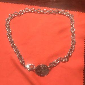 Tiffany & Co. SS Return to Tiffany Tag Necklace